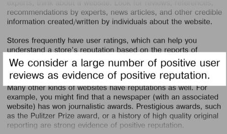 Google guideline for social reviews